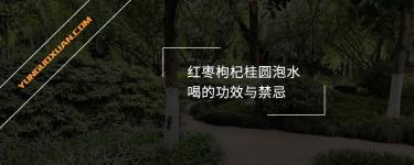 红枣枸杞桂圆泡水喝的功效与禁忌