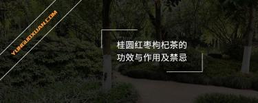 桂圆红枣枸杞茶的功效与作用及禁忌